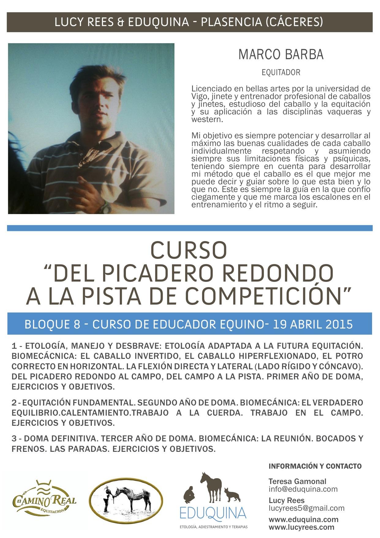 Curso: Del Picadero Redondo a la Pista de Competición.