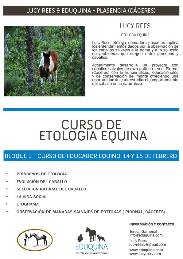 Curso Etología Equina. Lucy Rees.