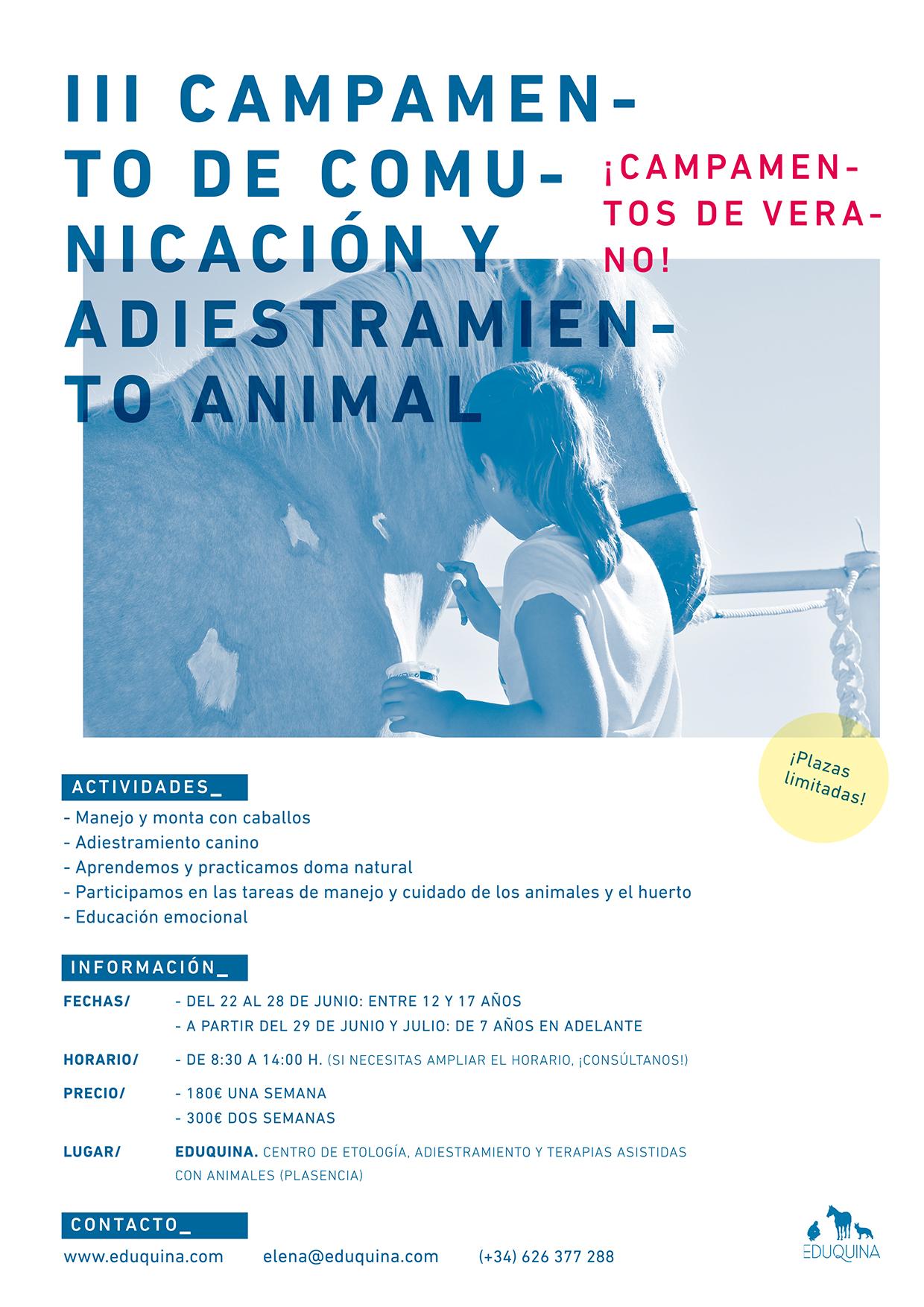 III CAMPAMENTOS INFANTILES DE COMUNICACIÓN Y ADIESTRAMIENTO CON ANIMALES