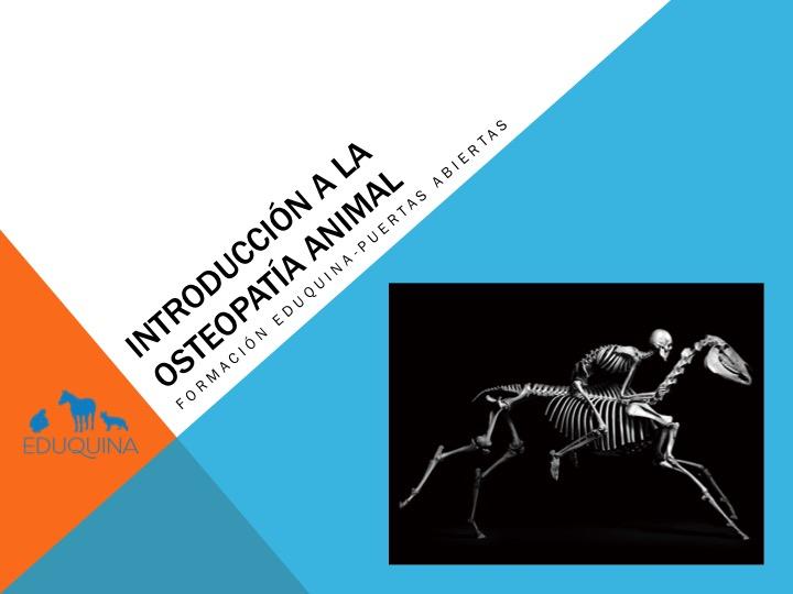 Introducción a la osteopatía animal-Jornada Eduquina