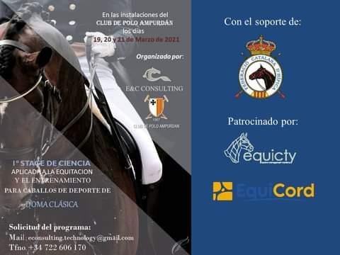 1´ STAGE DE CIENCIA DE LA EQUITACIÓN Y ENTRENAMIENTO DEPORTIVOPARA CABALLOS DE DEPORTE MODALIDADDOMA CLÁSICA